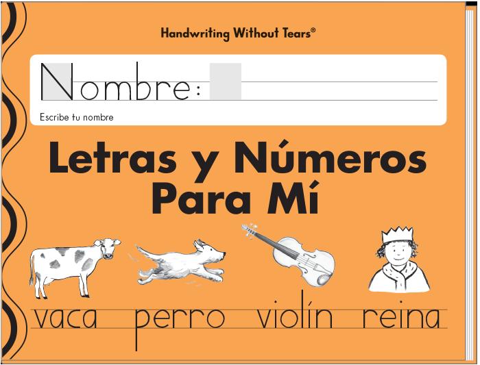 Letras  y números para mí (Spanish)