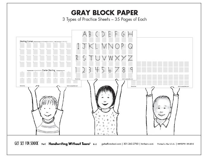 Gray Block Paper (105 sheets)