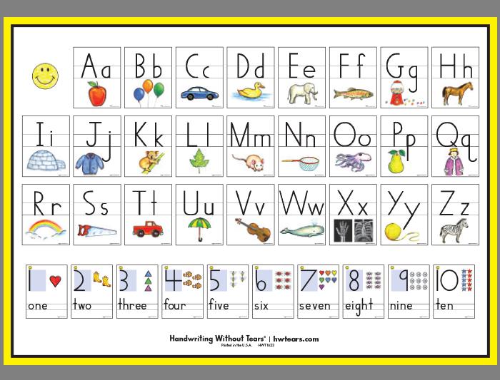 Print Letter & Number Poster