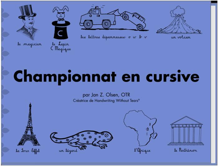 Championnat en Cursive (French)