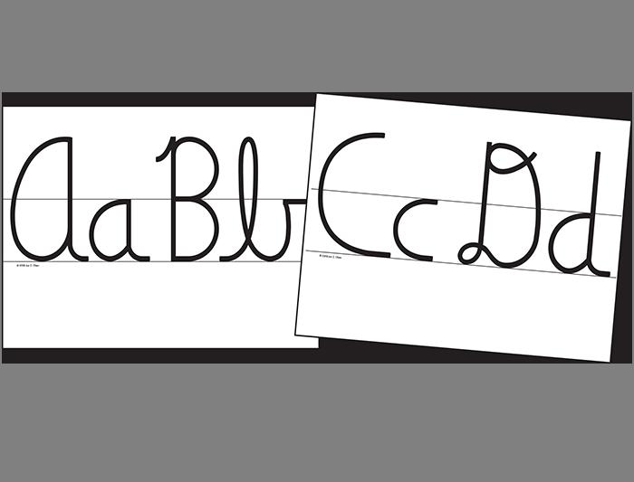 Cursive Wall Cards