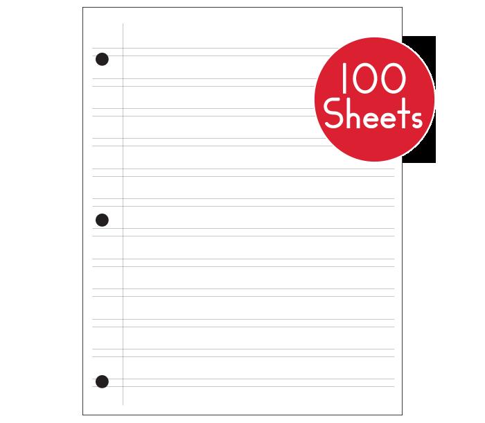 Regular Notebook Paper (100 Sheets)