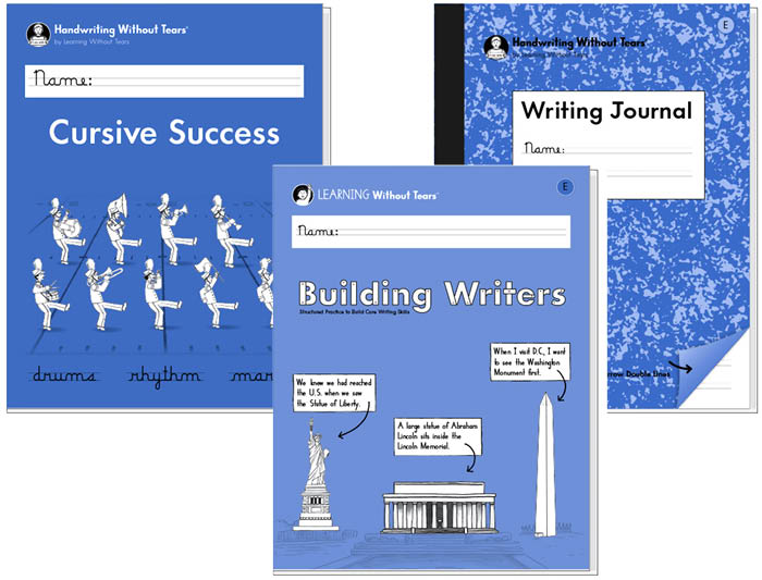 4th Grade Student Bundle: Cursive Success + Building Writers E + Writing Journal E
