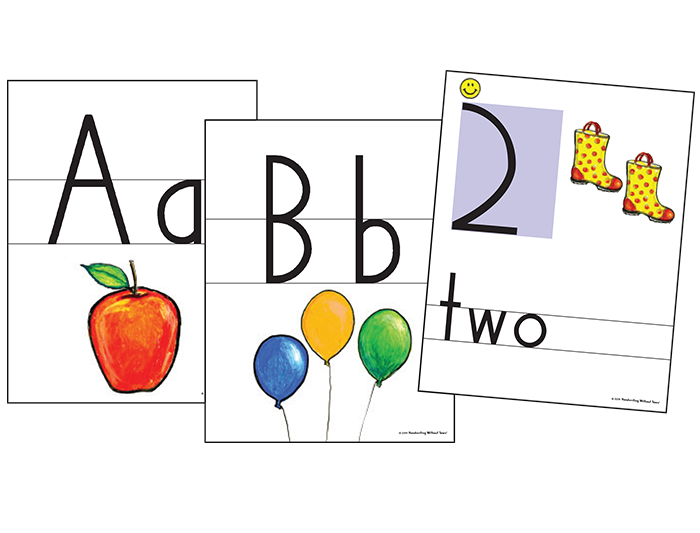 Color Print & Number Wall Cards