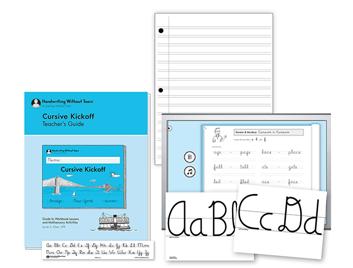Cursive Kickoff Teacher Kit A with Teacher's Guide
