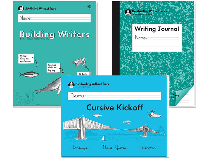 2nd Student Bundle A: Cursive Kick-Off + Building Writers C + Writing Journal C